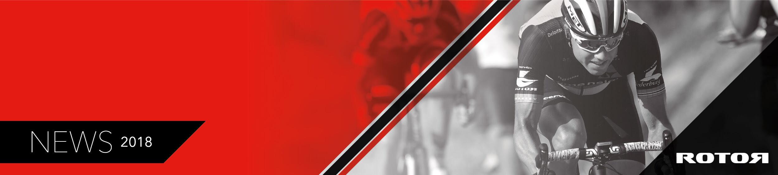 bannière Rotor avec image d'un cycliste